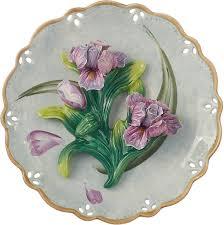 Декоративная тарелка Lefard <b>Ирис</b>, 59-477, голубой, 20 х 20 х 6 см