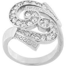Versace <b>кольцо</b> 'Baroque' с кристаллами - GLAMI.ru