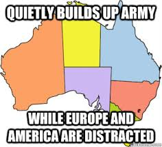 Quietly builds up army While Europe and America are distracted ... via Relatably.com