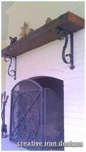 <b>Creative Iron</b> Designs | Screened Porch Ideas | Fireplace <b>shelves</b> ...