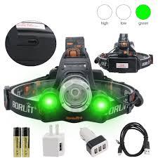 BORUiT 100000Lm <b>3*XM</b>-<b>L T6 LED</b> Headlamp HeadLight Torch ...