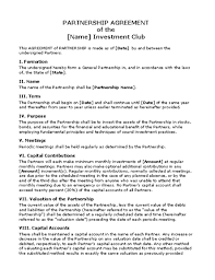 12 business partner contract template business agreement sample letter