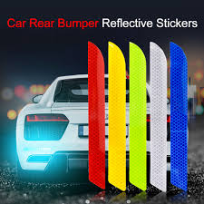 <b>4pcs Car OPEN</b> Reflective Tapes Sticker Auto Door Warning Mark ...