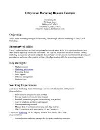 entry level marketing resume getessay biz entry level marketing example entry level marketing inside entry level marketing