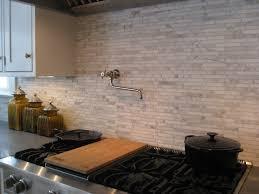 pot fillers for kitchen backsplash is random mini brick calacatta gold marble with pot filler