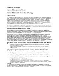 ot resume occupational therapy cover letter