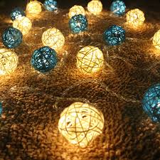<b>4M 20led</b> Rattan Ball <b>string</b> lights Sepak Takraw ball light lamp Fairy ...