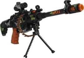 Collectionmart Machine Gun High Toy Set With Flash Light And ...