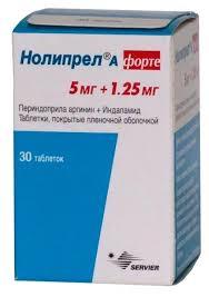 <b>Нолипрел А форте</b> таб. п/о плен. <b>5</b> мг+1,25 мг №30 — купить по ...