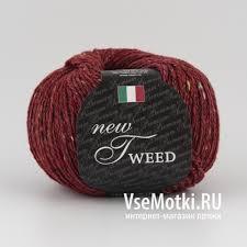 <b>Пряжа Сеам</b> Нью Твид (<b>Seam New Tweed</b>) №127 винный – купить ...