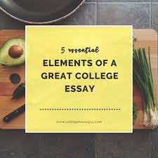 essential elements of a great college essay college essay guy 5 essential elements of a great college essay