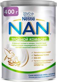 <b>Смесь NAN Тройной</b> комфорт, от колик и запоров, с 0 месяцев ...