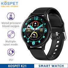 KOSPET <b>K21 Smart Watch</b> Men Waterproof Fitness Tracker Blood ...