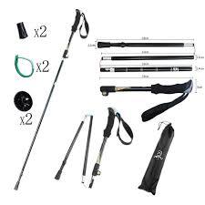 Online Shop <b>2pcs</b>/lot Walking Stick <b>Folding</b> Trekking poles 5-section ...