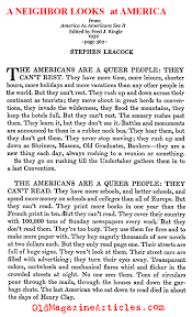 stephen leacock article american liabilities canadian jokes americans are a strange people characteristically american 1932