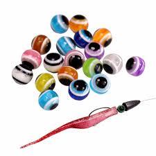 <b>200pcs</b>/<b>lot Fish Eye</b> Fishing Beads 6mm 8mm 10mm Mixed Color ...