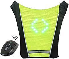 ECEEN LED <b>Turn</b> Signal Vest <b>Bike</b> Pack Guiding Light Reflective ...