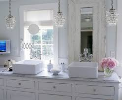 pictures of adorable crystal chandelier for bathroom on home remodeling ideas bathroom chandelier lighting ideas