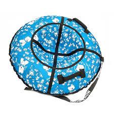 Санки надувные <b>Тюбинг RT Собачки</b> на голубом, диаметр 118 см ...