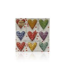 "<b>Бумажные салфетки Bouquet</b> Original de Luxe "" Сердца "" , 2х ..."