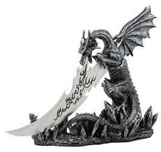 Mythical Fantasy <b>Dragon Fire Breath</b> Dagger Letter Opener W ...