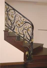 Custom Stair Railing Handmade Branches With Leaves Stair Railing By Brian Hughes Artist