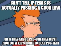 "Texas files ""Pop Tart Gun"" bill, prohibiting schools from ... via Relatably.com"
