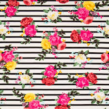 <b>Floral Striped</b> Knit <b>Fabric</b> | Hobby Lobby | 1593581