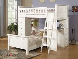 amazing love and bunk beds with desks with ledder and comfy bedding plus furry rug amazing loft bed desk