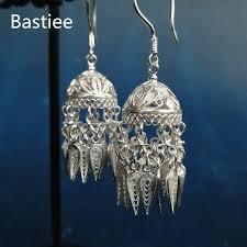 <b>Bastiee 999 Sterling</b> Silver Ethnic Hat Tassel Earrings For Women ...