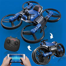 <b>2.4G Folding</b> 2in1 RC Drone Deformation Motorcycle With 650ma ...