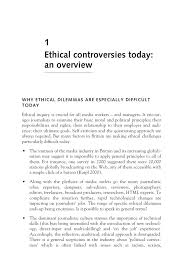 ethics for journalists 10 4 ethical controversies