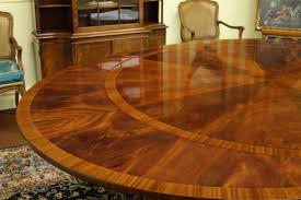 dining room designer furniture exclussive high: details about round to oval mahogany table designer