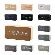 Top Quality <b>Li&Tai Wood</b> Digita Alarm Clock <b>LED</b> Alarm Clock ...