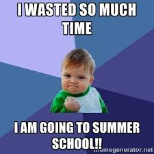 I wasted so much time I am going to Summer School!! - Success Kid ... via Relatably.com