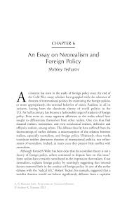 an essay on neorealism and foreign policy springer inside