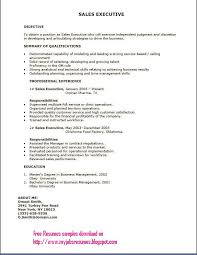 sample resume executive  a gif