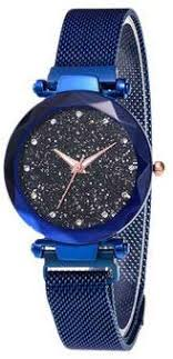 <b>Womens</b> Starry Sky Quartz Watch with Stainless Steel Band and ...