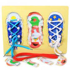 <b>Montessori</b> Material Sensorial Shoe Lacing Puzzle <b>Montessori</b> ...