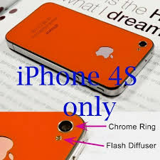 Iphone 4S Back <b>Cover Housing</b>, iPhone 4S Only, Orange Glass ...