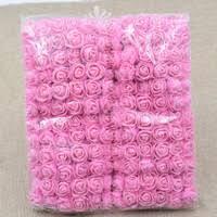 2cm head Multicolor <b>PE Rose</b> Foam Mini Flower Bouquet Solid ...