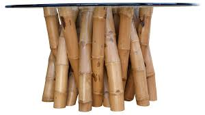 bamboo dining bamboo dining table w glass top