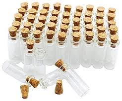 50pcs 1ml Small Mini Glass Bottles Jars with Cork ... - Amazon.com