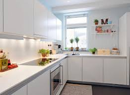 apartment kitchen design:  best minimalist kitchen design for apartments with white decoration and lighting