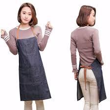 Korean <b>Fashion</b> Unisex Antifouling Denim Apron For Cooking ₱322