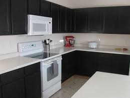 awesome black kitchen ideas with black cabinet and white table also ceramic electric plugs awesome black painted