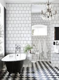 bathroom floor black white