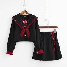 Black jk uniform <b>Sailor Suit</b> COS <b>School</b> Wear Women <b>School</b> ...