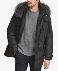 Andrew Marc <b>Men</b> Mixed-Media Parka with Removable Hood | <b>New</b> ...