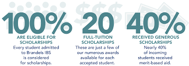 information about merit based scholarships and awards brandeis 100% are eligible for scholarships every student admitted to ibs is considered for
